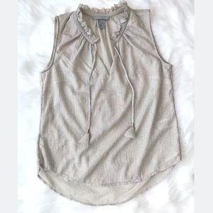 H&M sleeveless shirt Light gold size 8